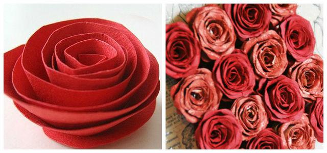 Как сделать искусственную розу